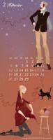 カレンダー 2月(2012年度版) 吉岡ゆうこオリジナルイラストカレンダー