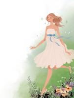 集英社 MAQUIA 雑誌 雑誌イラストカット カットイラスト 女性 美容 マキア 美容 草花 イラスト 吉岡ゆうこ