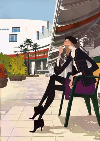 アジア太平洋トレードセンター館内ガイド表紙・2009年冬号 パンフレット カタログイラスト 吉岡ゆうこ