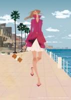 アジア太平洋トレードセンター館内ガイド表紙・2009年春号 パンフレット/カタログイラスト 吉岡ゆうこ(2009.4)