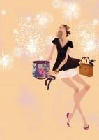 アテニア化粧品会報誌『ATTENIR』表紙イラスト 2009年7.8月合併号 吉岡ゆうこ(2009.7)