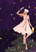 アテニア化粧品会報誌『ATTENIR』表紙イラスト 2010年12月号 吉岡ゆうこ(2010.11)