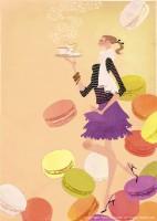 アテニア化粧品会報誌『ATTENIR』表紙イラスト 2010年9月号 吉岡ゆうこ(2010.8)