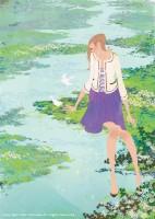 アテニア化粧品会報誌『ATTENIR』表紙イラスト 2011年3月号 吉岡ゆうこ(2011.2)