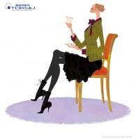 東急百貨店TOP&ClubQカード広告媒体・2010年秋冬 ポスターイラスト 吉岡ゆうこ(2010.8)