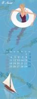 カレンダー 8月(2008年度版) 吉岡ゆうこオリジナルイラストカレンダー