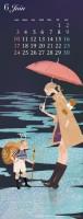 カレンダー 6月(2012年度版) 吉岡ゆうこオリジナルイラストカレンダー