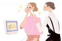 資生堂サイト ワタシプラス 化粧品専門店コンテンツ Webサイトイラスト 吉岡ゆうこ(2013.6) No.002