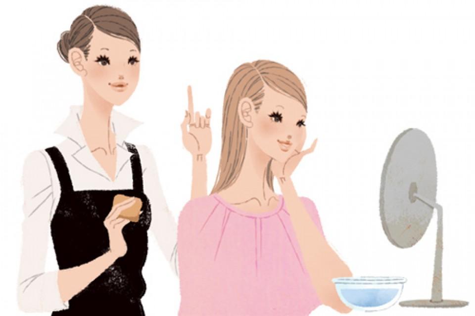 資生堂サイト ワタシプラス 化粧品専門店コンテンツ Webサイトイラスト 吉岡ゆうこ(2013.6) No.007
