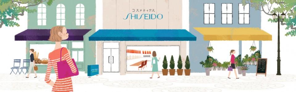 資生堂サイト ワタシプラス 化粧品専門店コンテンツ WebサイトTOPイラスト 吉岡ゆうこ(2013.6)
