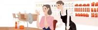 資生堂サイト ワタシプラス 化粧品専門店コンテンツ WebサイトTOPイラスト 吉岡ゆうこ(2013.6) No.005
