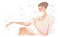 どろあわわ 石鹸 泡 dorowa ボディケア お風呂 女性 イラスト 吉岡ゆうこ