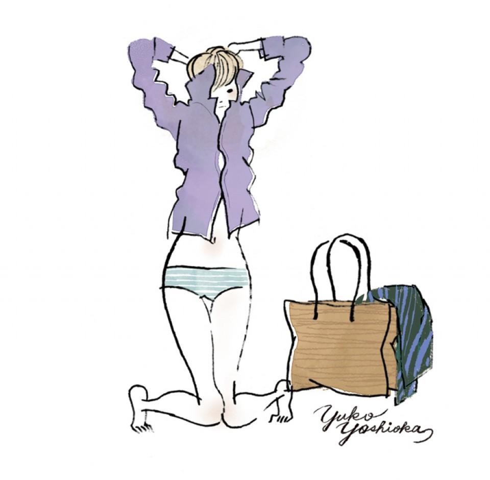 オリジナル イラストレーション イラスト 線画 ファッションイラストレーション ファッションイラスト 吉岡ゆうこ