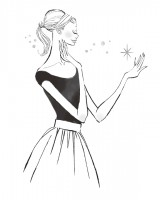 イラストレーション イラスト 線画 ファッションイラストレーション ファッションイラスト 吉岡ゆうこ