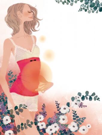 集英社 MAQUIA 雑誌 雑誌イラストカット カットイラスト 女性 美容 マキア 美容 イラスト 吉岡ゆうこ