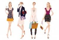 文藝春秋社 CREA 雑誌 雑誌イラストカット カットイラスト ファッション タイプ別ファッション 女性 イラスト 吉岡ゆうこ