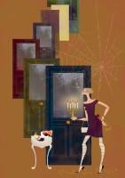 人物 女性 イラストレーション イラスト ファッションイラストレーション ファッションイラスト シック おしゃれ 宮沢賢治 注文の多い料理店 抽象 イメージ 吉岡ゆうこ