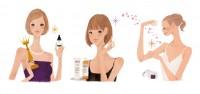 スタンダートマガジン beasup 雑誌 雑誌イラストカット カットイラスト 女性 化粧品 ビューティー 美容 リラックス 健康的 ヘルシー イラスト 吉岡ゆうこ
