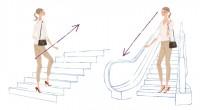 集英社 MAQUIA 雑誌 雑誌イラストカット カットイラスト 女性 美容 マキア 美容 階段 運動 通勤 健康的 ヘルシー イラスト 吉岡ゆうこ