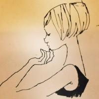 イラストレーション イラスト 線画 ドローイング drawing 女性ファッション 男性 ファッションイラストレーション ファッションイラスト 吉岡ゆうこ