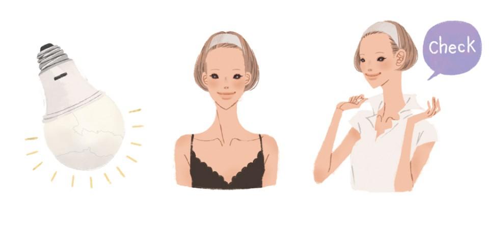 光文社 美ST 雑誌 雑誌イラストカット カットイラスト 女性 ビューティー 美容 リラックス 健康的 ヘルシー イラスト メイク メイク術 40歳からのメイク 吉岡ゆうこ