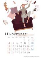 カレンダー 2018年カレンダー イラストレーション ファッションイラストレーション ライフスタイル 女性 犬 インテリア 抽象 無重力 おしゃれ 上品 吉岡ゆうこ yukoyoshioka