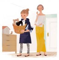 イラストレーション ファッションイラスト ファッションイラストレーション illustration fashionillistration 女性イラスト 親子イラスト ライフスタイル おしゃれ シンプル インテリア パンフレット 住友林業 吉岡ゆうこ