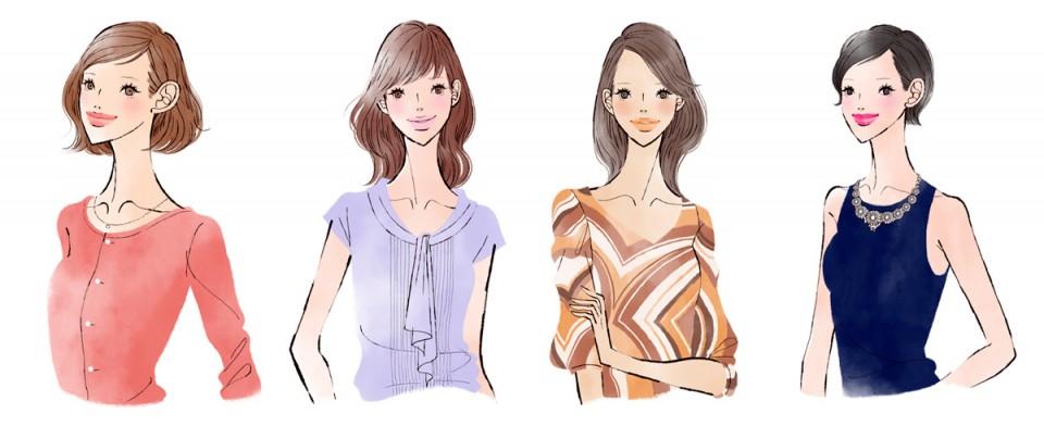 ファッションイラスト イラストレーション イラスト マキアオンライン 集英社 maquiaonline Webサイト 美容 化粧 コスメ 吉岡ゆうこ