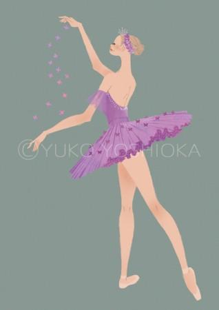 illustration fashionillustration イラストレーション イラスト drawing 女性ファッション ファッションイラストレーション ファッションイラスト ライフスタイル リラックス  おしゃれ シンプル バレエ バレエダンサー 眠れる森の美女 大人っぽい 吉岡ゆうこ