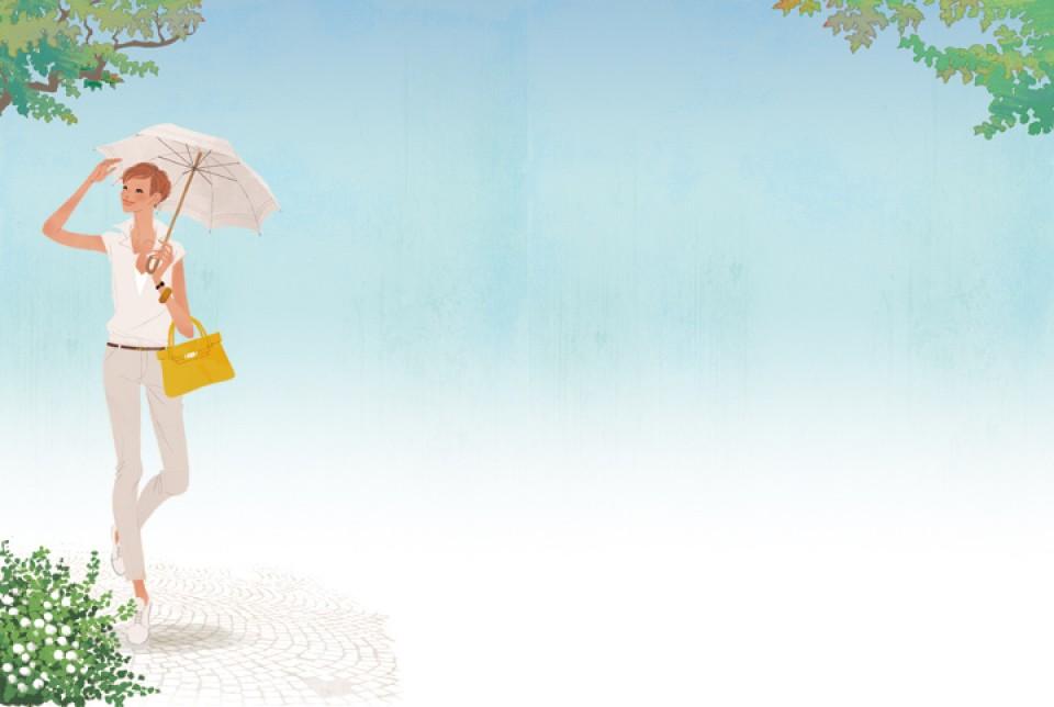 日経WOMAN 雑誌 雑誌イラストカット 女性 ファッションイラスト イラスト イラストレーション ファッション コーディネート ライフスタイル 木陰 吉岡ゆうこ