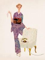 illustration fashionillustration イラストレーション イラスト drawing 女性ファッション ファッションイラストレーション ファッションイラスト 着物 kimono おしゃれ シンプル 大人っぽい 吉岡ゆうこ