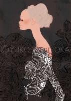illustration fashionillustration イラストレーション イラスト drawing 女性ファッション ファッションイラストレーション ファッションイラスト おしゃれ シンプル 大人っぽい 吉岡ゆうこ