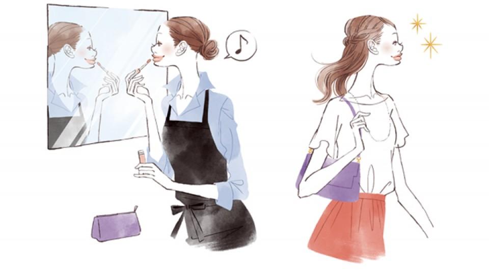 イラストレーション ファッションイラスト ファッションイラストレーション illustration fashionillistration 商業施設 仕事 PC作業 社内 ライフスタイル おしゃれ シンプル インテリア 暮らし 線画 吉岡ゆうこ