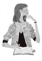 書籍 書籍中面イラスト 中面イラストレーション ファッションイラスト コーディネート リアルクローズ おしゃれ 上品 ライフスタイル 柴田陽子 小学館 吉岡ゆうこ