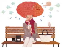 ファッションイラスト イラストレーション イラスト webコラムイラスト コラムイラスト ワコールBODYBOOK 教えてドクター 美容 ライフスタイル ランチタイム 脳 鳥 生活 吉岡ゆうこ