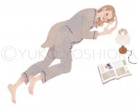 女性イラスト ファッションイラスト 妊婦さんイラスト 妊婦さん 抱き枕 たまごクラブ 今月のHitアイテム 可愛い おしゃれ ほのぼの ライフスタイル インテリア 吉岡ゆうこ